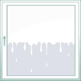 statische raamfolie • Drops