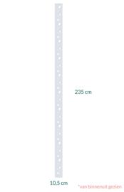 raamfolie op maat • Chique bladeren • 10,5 x 235 cm