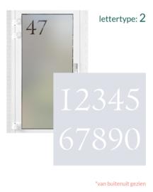 verticale statische raamfolie • Huisnummer • 1