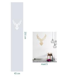 raamfolie op maat en houten wanddecoratie • Hert