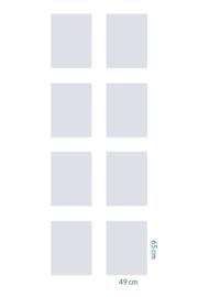 raamfolie op maat • zonder motief • 8 stuks