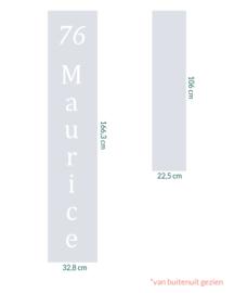 raamfolie op maat • Huisnummer en naam • 2 stuks