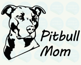 auto sticker • pitbull mom