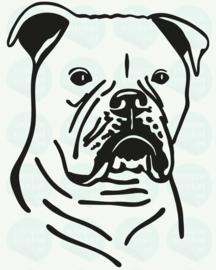 auto sticker • amerikaanse bulldog 2