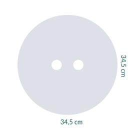 raamfolie op maat • Cirkel met cirkels • 34,5 x 34,5 cm