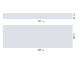raamfolie op maat • zonder motief • 241 x 20 en 241 x 80 cm