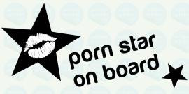auto sticker • porn star on board 2