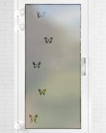 verticale statische raamfolie  •  Vlinders
