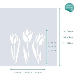 statische raamfolie  •  Drie tulpen