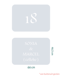 raamfolie tegel op maat • 2 stuks • 66 cm x  46,5 cm