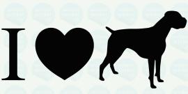 auto sticker • I love amerikaanse bulldog