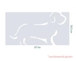 raamfolie op maat • Teckel • 67cm x 34,5cm