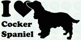 auto sticker • I love cocker spaniel