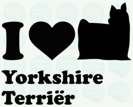 auto sticker • I love yorkshire terriër