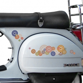 scooter stickers • retro kringen