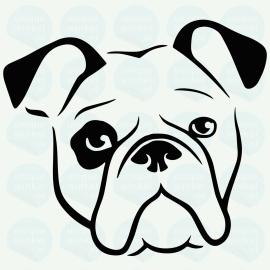 auto sticker • amerikaanse bulldog
