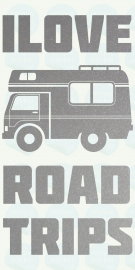auto sticker • I love road trpis