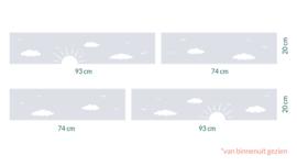 raamfolie op maat • Zon en wolken