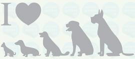 auto sticker • I love dogs