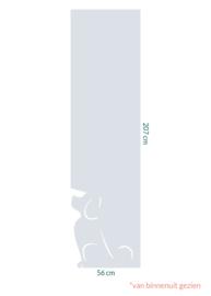 raamfolie op maat • Waakhond • 56 cm x 207 cm