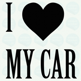 auto sticker • I love my car