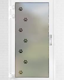 verticale statische raamfolie  •  Hondenpootjes