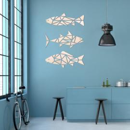 houten wanddecoratie • Vissen