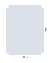 raamfolie tegel op maat • zonder motief • 47 x 61 cm