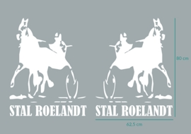 """3 autostickers """"Stal Roelandt"""""""