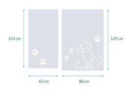 raamfolie op maat • Hond en poes