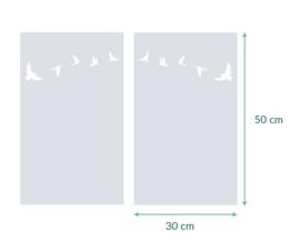 raamfolies op maat • Vogels • 2 stuks