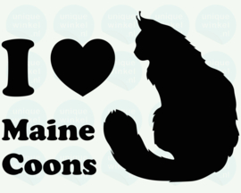 auto sticker • I love maine coons