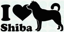 auto sticker • I love shiba