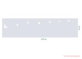 raamfolie op maat • Vogels • 279 x 70 cm