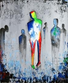 schilderij Abstractie, 40 x 50 cm