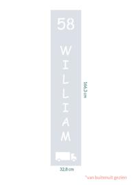 raamfolie op maat • William • 32,8 x 166,3 cm
