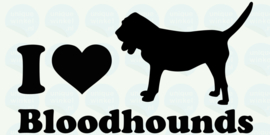 auto sticker • I love bloodhounds