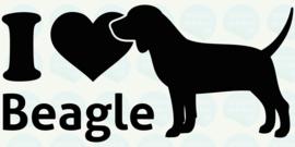 auto sticker • I love beagle