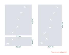 raamfolie op maat • Vrije Vogels • 3 stuks