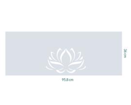 raamfolie op maat • Lotus • 95,8 x 36 cm