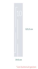 raamfolie op maat • Huisnummer 10 • 19,5 x 121,5 cm