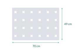 raamfolie op maat • Kruizen • 70 x  49 cm