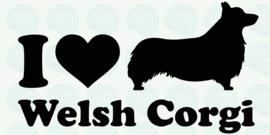 auto sticker • I love welsh corgi