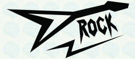 auto sticker • rock