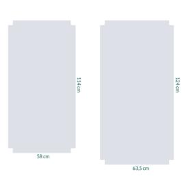 raamfolie tegels op maat • 2 stuks zonder motief