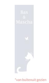 raamfolie op maat • Kat met vlinder • 25 x 90 cm