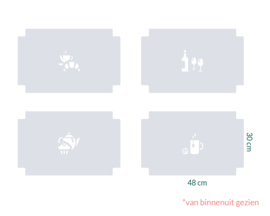 raamfolie tegels op maat • 48 x 30 cm • 4 stuks