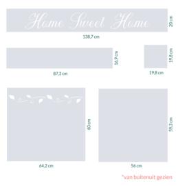 raamfolie op maat • home sweet home en chique bladeren