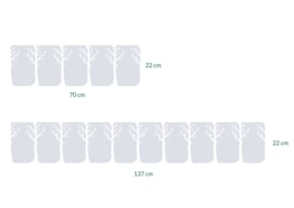 raamfolies op maat • Bomen • 2 stuks
