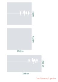 raamfolie op maat • Vogels op draad en zonder motief • 3 stuks